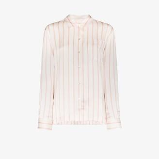 ASCENO London striped silk pyjama top
