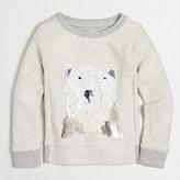 J.Crew Factory Girls' polar bear sequin sweatshirt