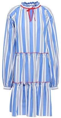 Stella Jean Tiered Striped Cotton-poplin Dress