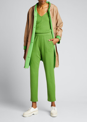 Akris Cashmere Side-Zip Conical-Leg Pants