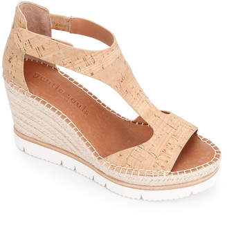 Gentle Souls by Kenneth Cole Elyssa Easy T-Strap Wedge Sandals Women Shoes