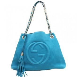 Gucci Soho Blue Suede Handbags