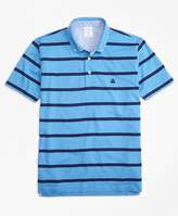 Brooks Brothers Supima® Jersey Stripe Button-Down-Collar Polo Shirt