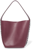 Givenchy Infinity Chain-trimmed Leather Shoulder Bag - Burgundy