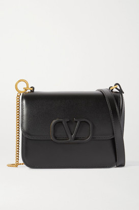 Valentino Garavani Vsling Small Leather Shoulder Bag - Black