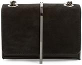 BP Metal Bar Faux Leather & Suede Crossbody Bag