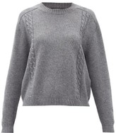 Gucci Cable-knit Wool Sweater - Womens - Grey Multi