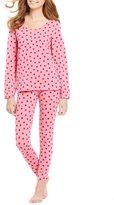 Jasmine & Ginger Glittery Dots Pajamas with Eye Mask