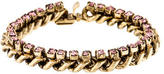 Dannijo Crystal Curb Chain Link Bracelet