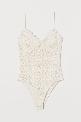 H&M Crocheted Lace Bodysuit
