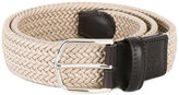 Canali braided elastic belt - men - Leather/Elastodiene - 90