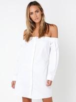 MinkPink Bardot Button-Up Shirt Dress