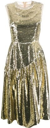 Simone Rocha Sequin Midi Dress