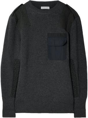 Tomas Maier Twill-paneled Merino Wool Sweater
