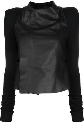 Rick Owens Phlegethon leather biker jacket