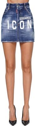 DSQUARED2 Dalma Icon High Waist Denim Mini Skirt