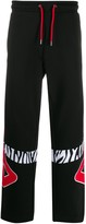 Fila Animal-Print Detail Track Trousers