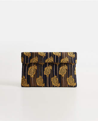 MANGO Floral Embroidery Clutch