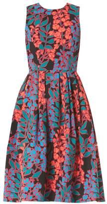 Carolina Herrera Sleeveless Floral Tea Dress