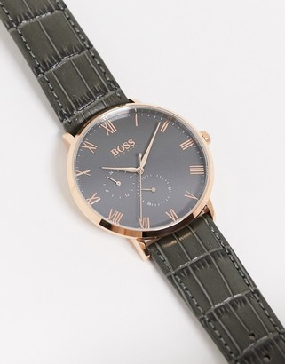 HUGO BOSS william watch with gold detail