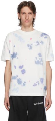 Palm Angels White Tie-Dye New Basic T-Shirt