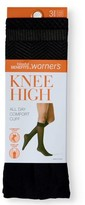 Warner's Blissful Benefits By Sheer Knee Highs, 3 Pack