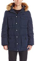 Tommy Hilfiger Men's Micro Twill Full Length Hooded Parka