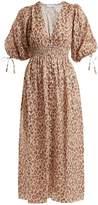Zimmermann Melody leopard-print linen dress