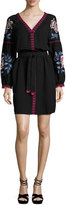 Tory Burch Theresa Embroidered Tunic Dress, Black