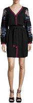 Tory Burch Theresa Embroidered Tunic Dress, Black