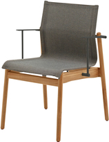 Houseology Gloster Sway Teak Stacking Chair with Arms - Meteor - Granite