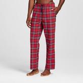 Merona Men's Poplin Sleep Pant Red/Navy Plaid
