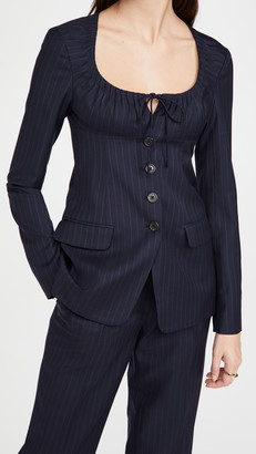 By Any Other Name Scoop Neck Tailored Blazer