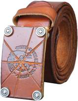 QISHI YUHUA PD Mens Classic Retro Fashion Soft Leather Belts(,S)