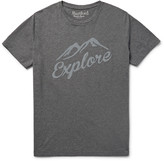 Hartford - Slim-fit Flocked Mélange Cotton-jersey T-shirt