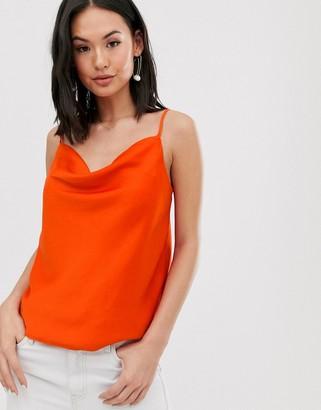 Pimkie cowl neck cami in orange
