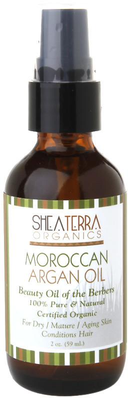 Shea Terra 100% Pure Moroccan Argan Oil, Certified Organic