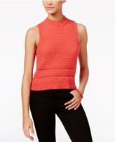 Jessica Simpson Mixed-Knit Sleeveless Sweater
