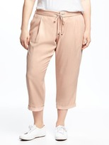 Old Navy Mid-Rise Soft Pleated Plus-Size Crops