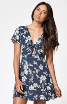 KENDALL + KYLIE Kendall & Kylie Floral Print Tie Front Dress