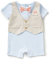Starting Out Treasures Baby Boys Newborn-6 Months Faux-Vested Shortall