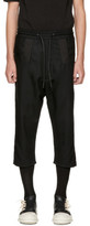 D.gnak By Kang.d Black Stitched Pocket Trousers