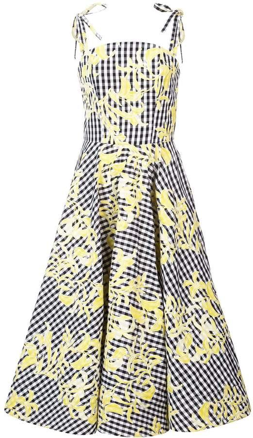 Christian Siriano gingham full skirt dress