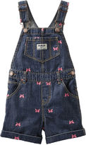 Osh Kosh Oshkosh Butterfly-Print Denim Shortalls - Baby Girls 3m-24m