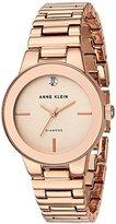 Anne Klein Women's Quartz Metal and Alloy Dress Watch, Color:Rose Gold-Toned (Model: AK/2670RGRG)