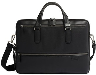 Tumi Harrison Harrow Double Zip Leather Brief Case