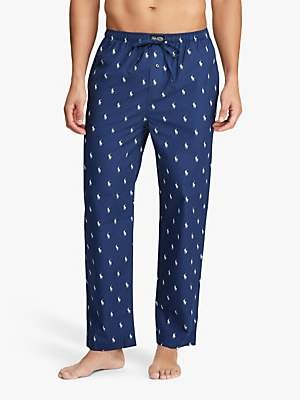 Ralph Lauren Polo Allover Pony Print Pyjama Bottoms, Navy