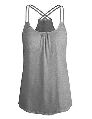 Cyanstyle Dressy Tank Tops Women Juniors Summer Round Neck Sleeveless  Casual Running Shirts Activewear Sport Lightweight Tunic Blouses XL