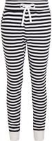 The Upside Como Striped Cotton-terry Track Pants - Navy