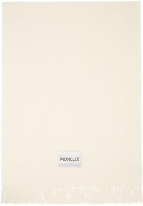 Moncler Off-White Large Logo Scarf